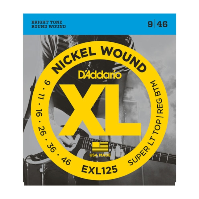 D'Addario EXL125 Nickel Wound Hybrid, 9-46 Electric Strings