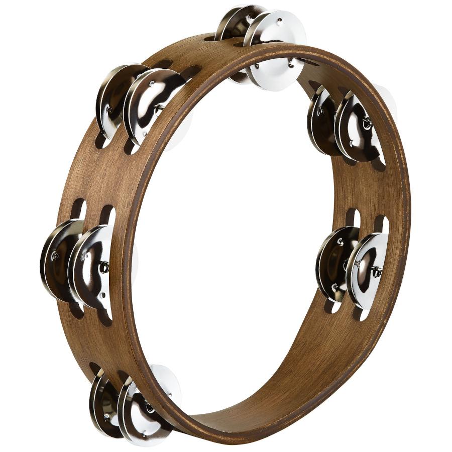 Meinl Compact Wood Steel, Walnut Brown Tambourine