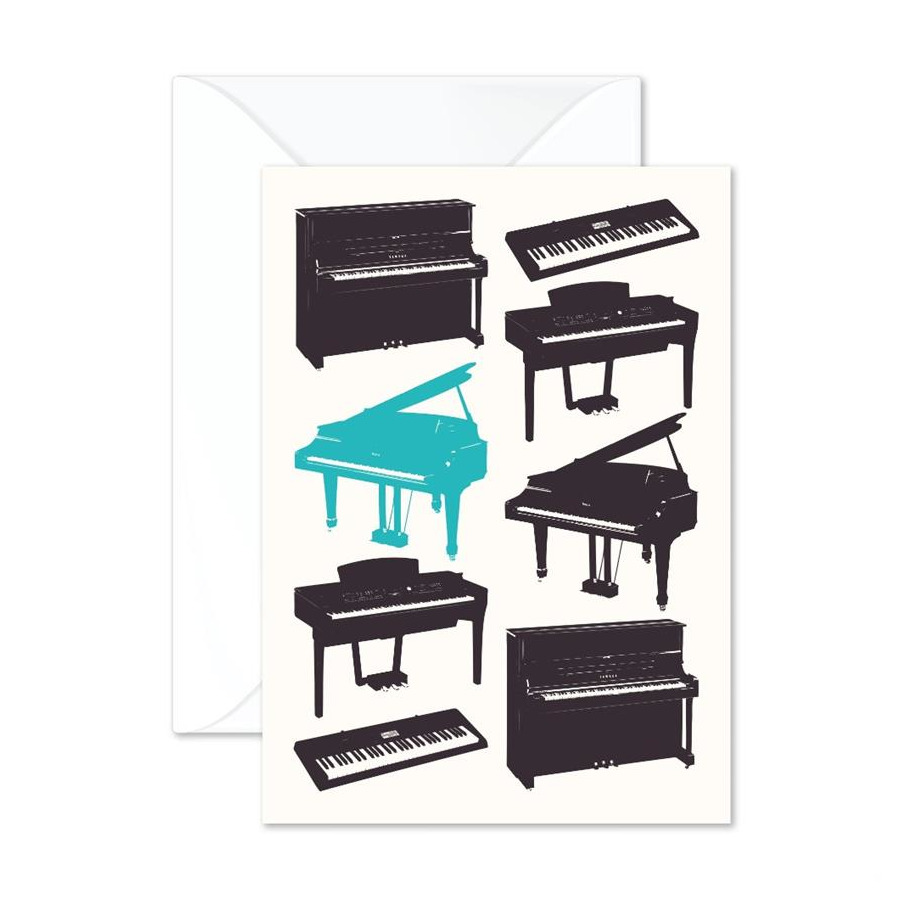 Vintage Pianos  Greetings Card