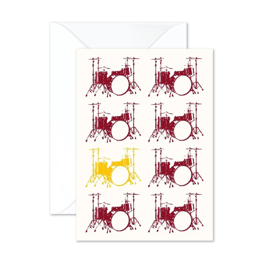 Vintage Drums Greetings Card
