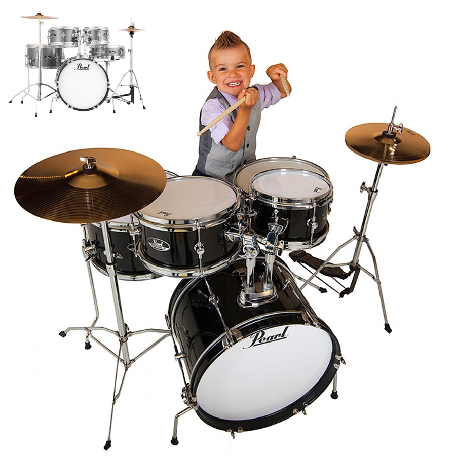 Pearl Roadshow Junior - Black Junior Drum Kit