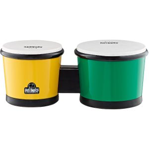 Nino Percussion NINO19 Green/Yellow ABS Plastic Bongos