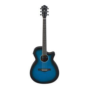 Ibanez AEG7-TBO Spruce Top Translucent Blue Sunburst Electro Acoustic Guitar