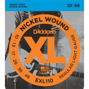 D'Addario EXL110 Nickel Wound Reg Light, 10-46 Electric Strings