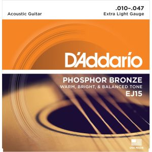 D'Addario EJ15 Phosphor Bronze Extra Light, 10-48 Guitar Strings