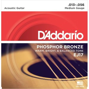 D'Addario EJ17 Phosphor Bronze Medium, 13-56 Guitar Strings