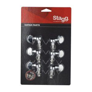 Stagg KG395CR 3 Aside Machine Heads