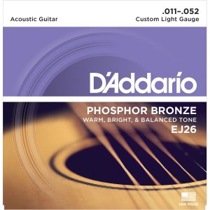 D'Addario EJ26 Phosphor Bronze Custom Light, 11-52 Guitar Strings