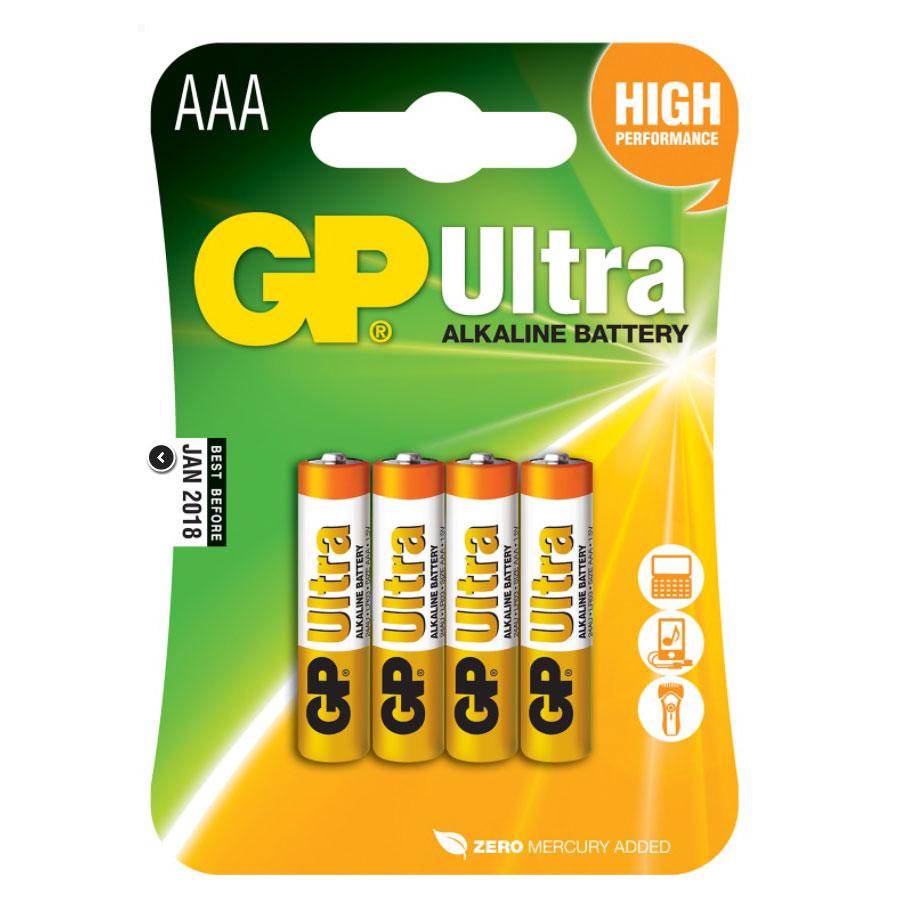 GP 4 Pack AAA Batteries