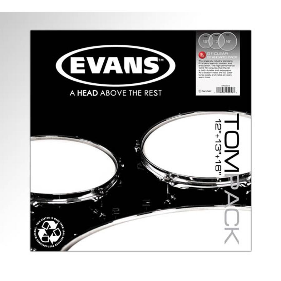 Evans G1 Clear, Standard Tom Pack