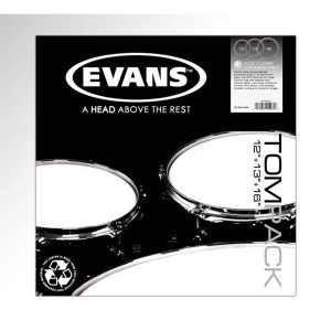 Evans EC2 Clear, Standard Tom Pack