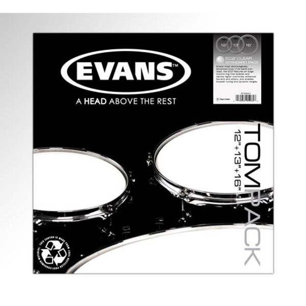 Evans EC2 Clear, Standard Tom Pack
