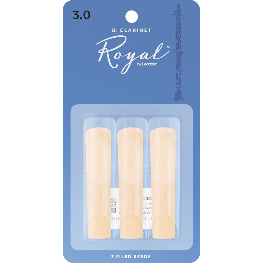 Rico Royal RCB0330 3-Pack, Clarinet, 3 Reed