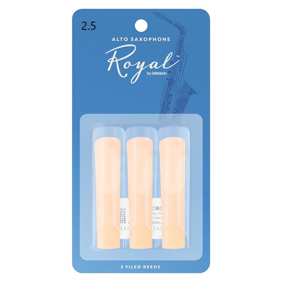 Rico Royal RJB0325 3-Pack, Alto Saxophone, 2.5 Reed
