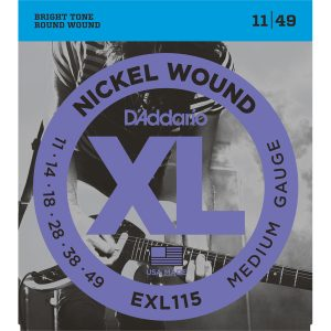 D'Addario EXL115 Nickel Wound Med, 11-49 Electric Strings