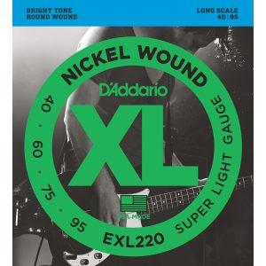 D'Addario EXL220 Nickel Wound Super Light, 40-95 Bass Set