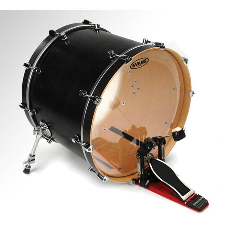 """Evans EQ3 20"""", Clear Bass Drum Head"""