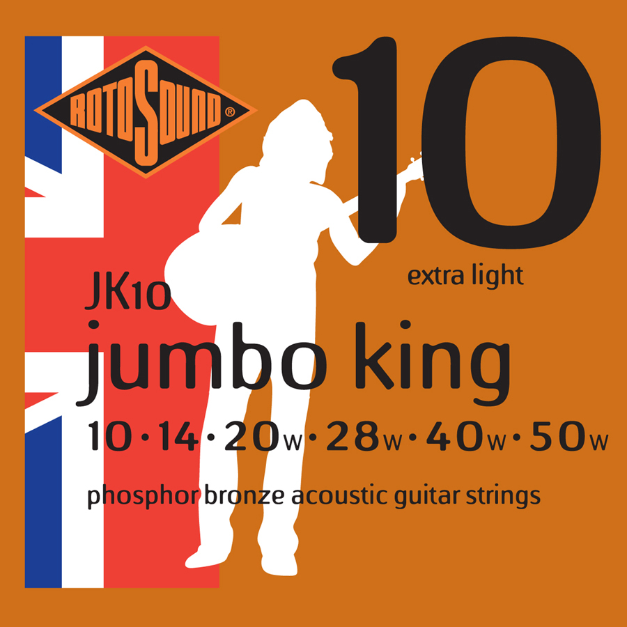 Rotosound JK10 Phosphor Bronze Strings