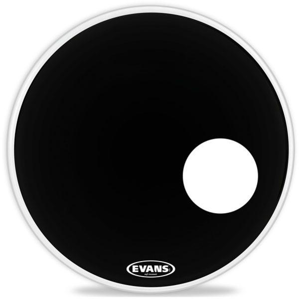 """Evans EQ3 22"""", Resonantm Smooth Black Bass Head"""