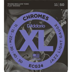 D'Addario ECG24 Chromes Flatwound, 11-50 Strings