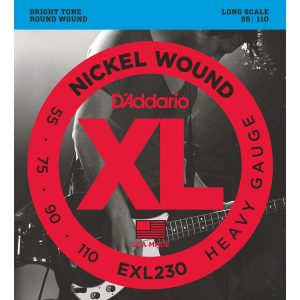 D'Addario EXL230 Nickel Wound Heavy, 55-110 Bass Set