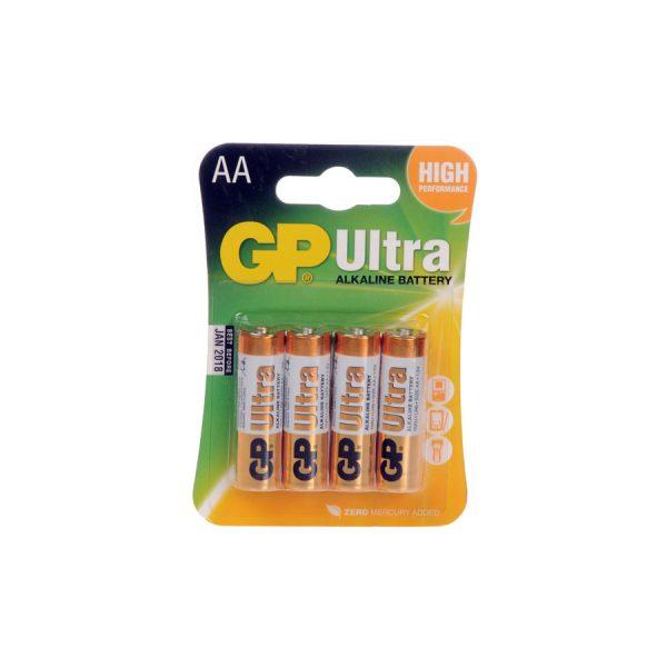 GP Ultra  4 Pack AA Batteries