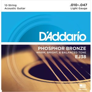 D'Addario EJ38 Light, 12 String Acoustic Set