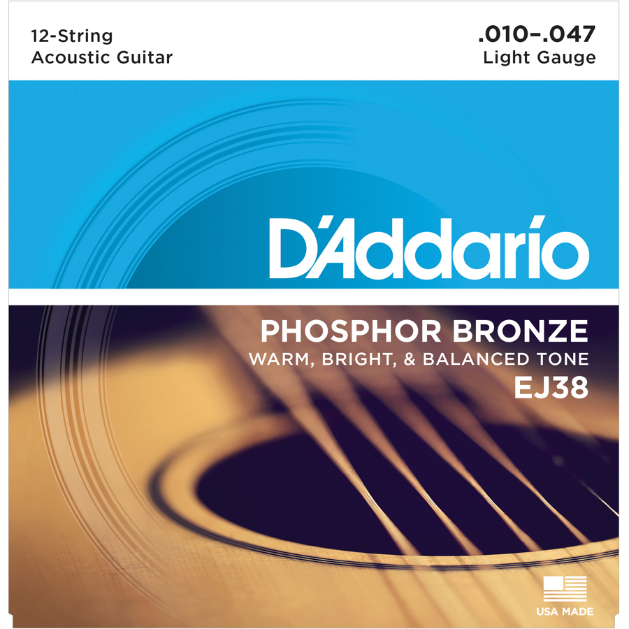 D'Addario EJ38 Light, 12 String Set Strings