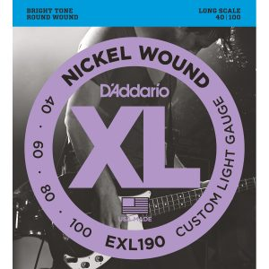 D'Addario EXL190 Nickel Wound Cust. Light, 40-100 Bass Set