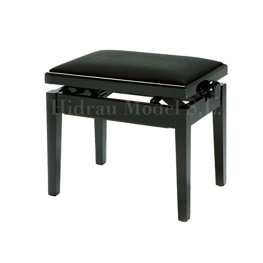 Hidrau New York Velvet Adjustable, Fixed Legs Stool