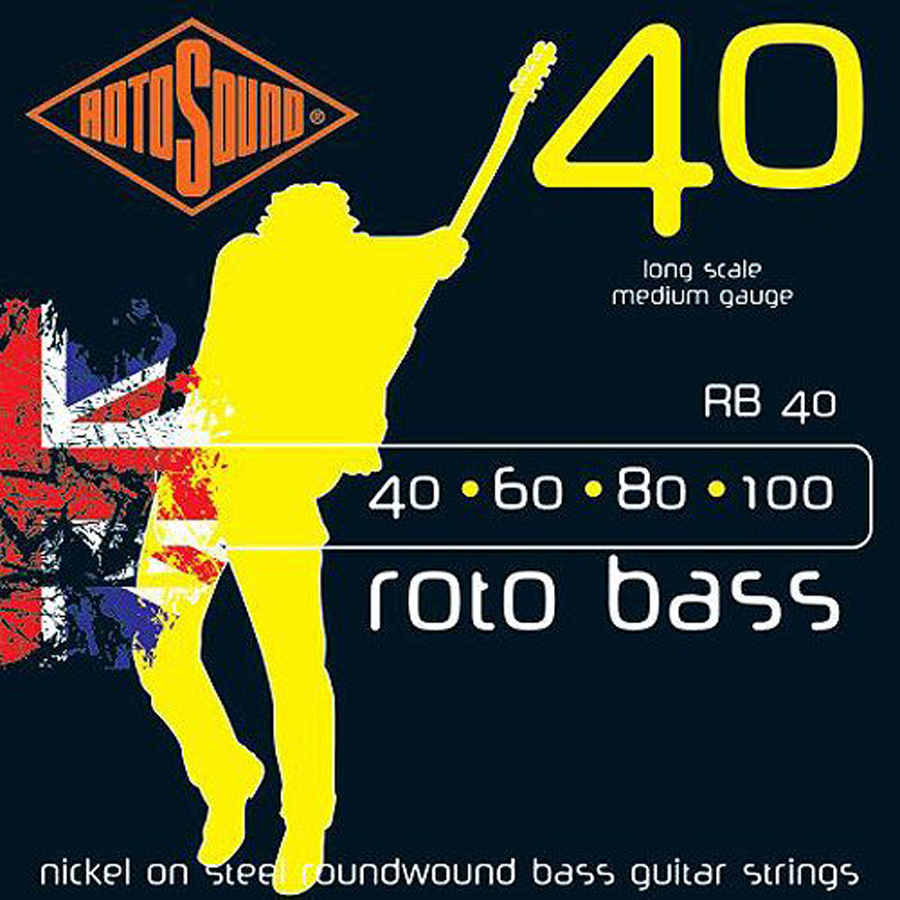 Rotosound RB40 Nickel Bass Set, 40 - 100 Strings