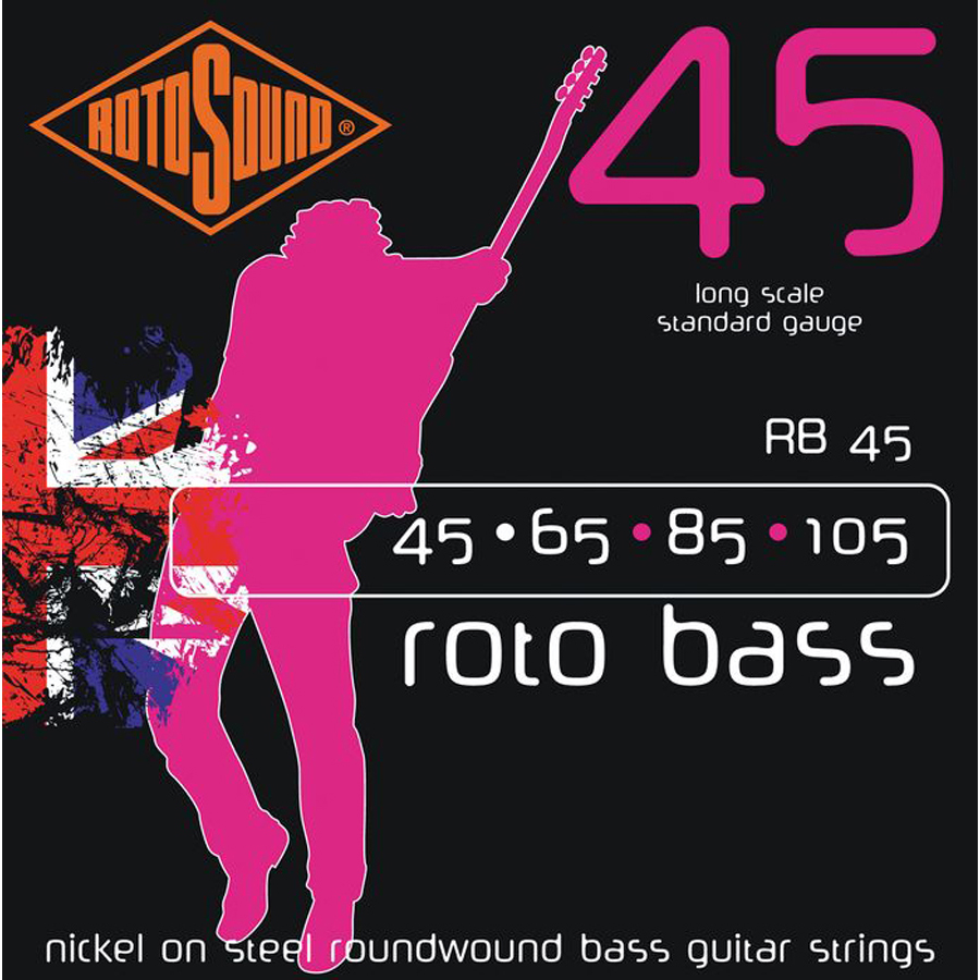 Rotosound RB45 Nickel, Bass Set, 45 - 105 Strings