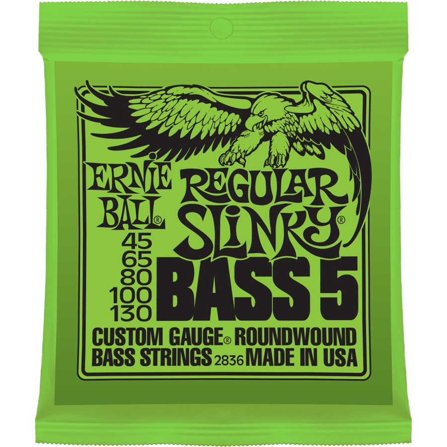 Ernie Ball Regular Slinky 45-130 5-String Bass Set