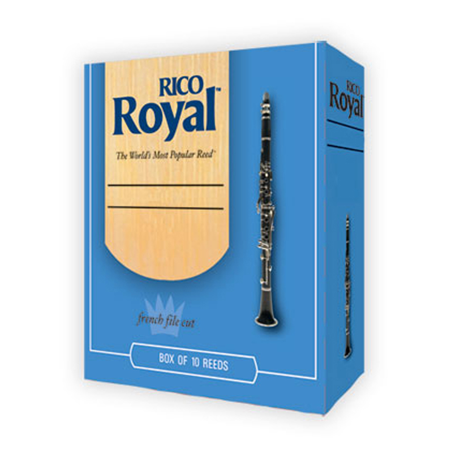 Rico Royal  Box of 10, Clarinet, 3 Reed