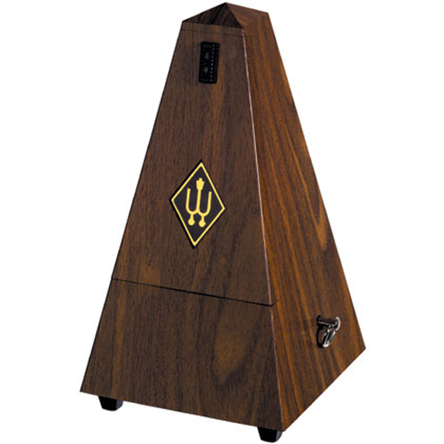 wittner maelzel no bell walnut plastic metronome mickleburgh musical instruments. Black Bedroom Furniture Sets. Home Design Ideas