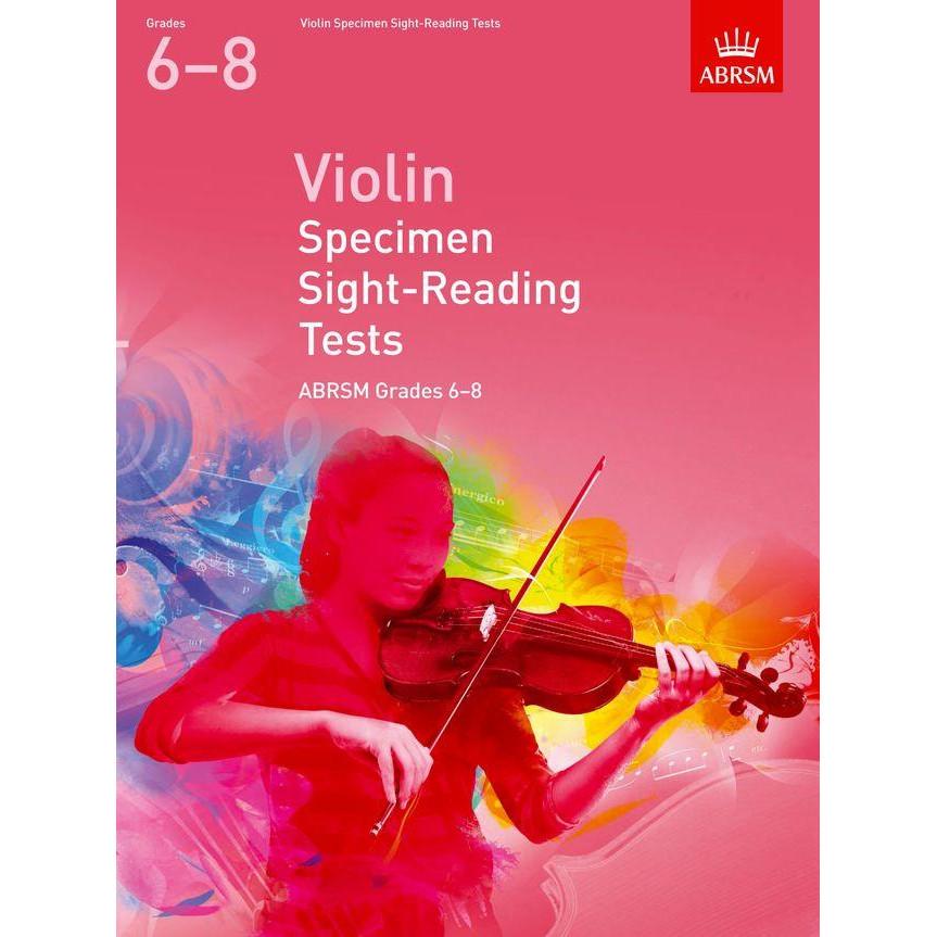 Violin Grades 6-8 Spec S-R Tests (ABRSM)