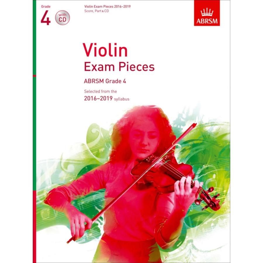 ABRSM Violin Grade 4 Pieces, S/P/CD (2016-2019)