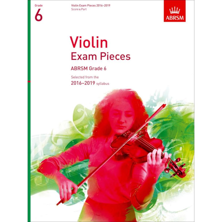 ABRSM Violin Grade 6 Pieces, S/P (2016-2019)