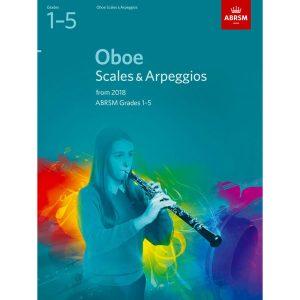 Oboe Scales & Arpeggios Grades 1-5 from 2018