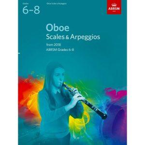 Oboe Scales & Arpeggios Grades 6-8 from 2018