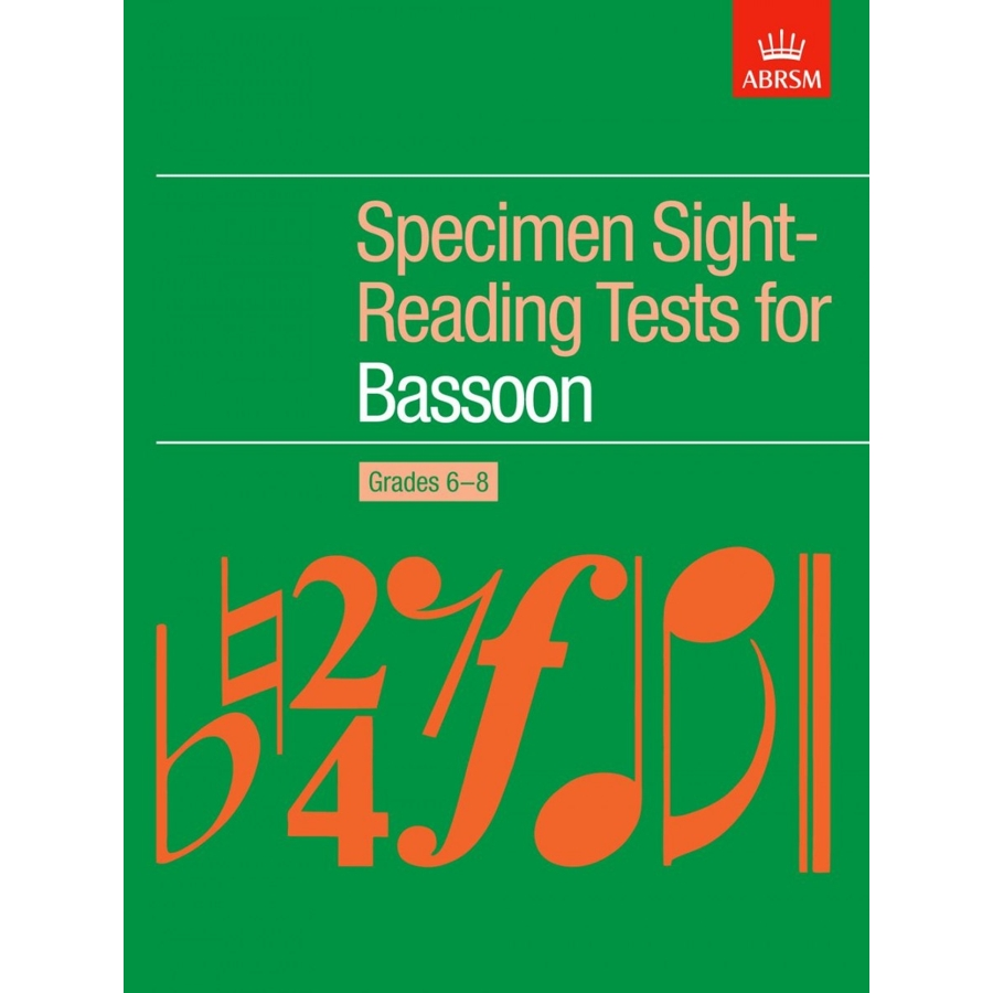 Bassoon Grades 6-8 Spec S-R Tests (ABRSM)