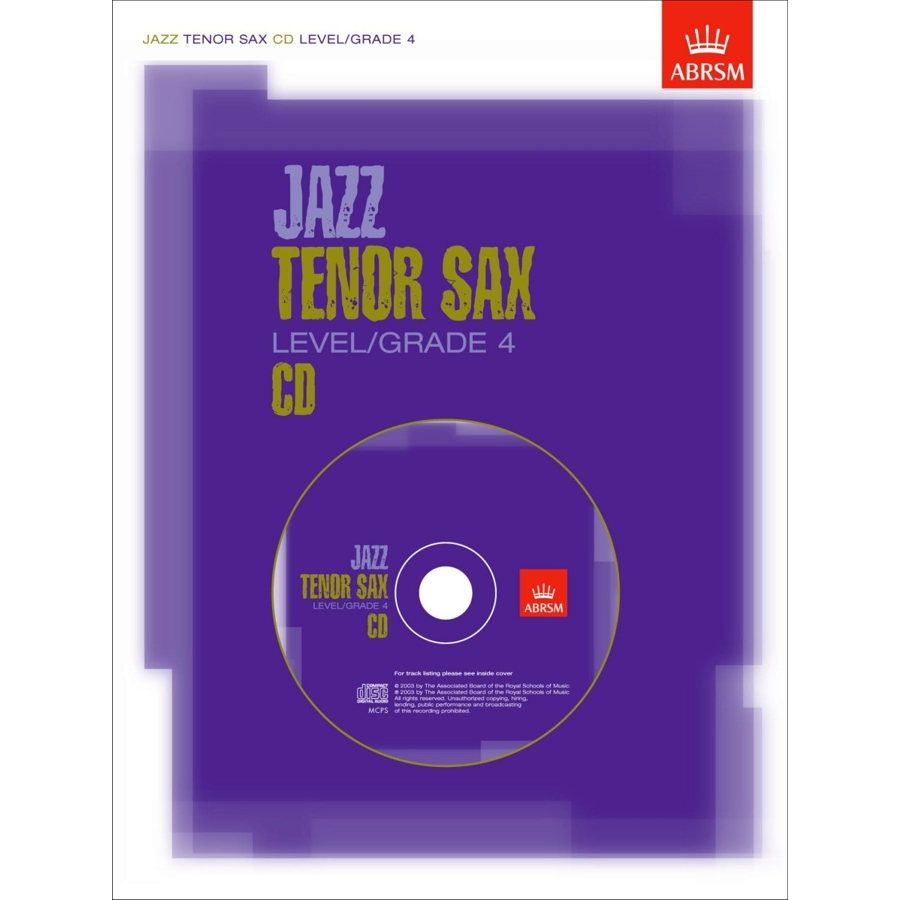 Jazz Tenor Sax CD Level/Grade 4