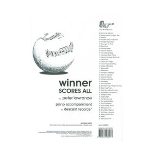 Winner Scores All Piano Accomp for Desc Recorder