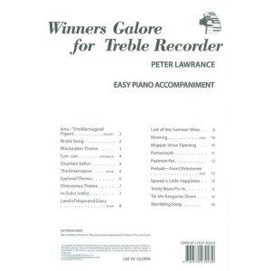 Winners Galore for Treble Recorder - Piano Accomp