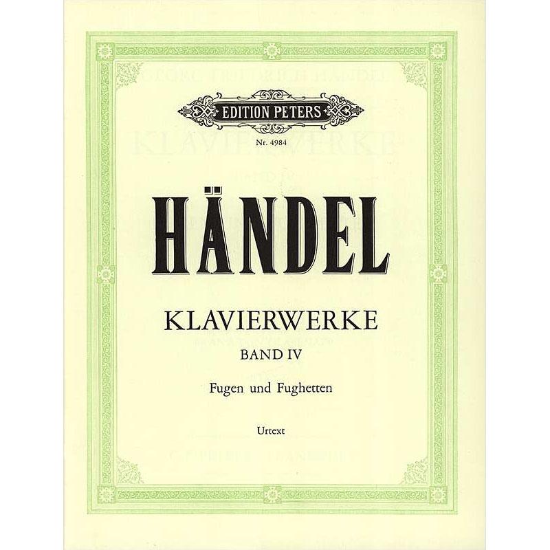 Handel: Keyboard Works, Vol. 4
