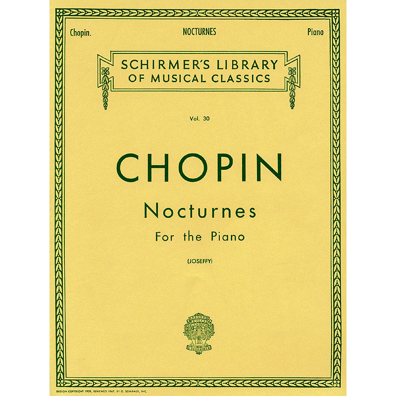 Chopin: Nocturnes for the Piano (Schirmer)
