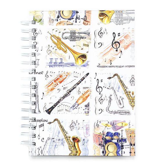 Little Snoring Jazz Instruments A6, Hardback Notebook