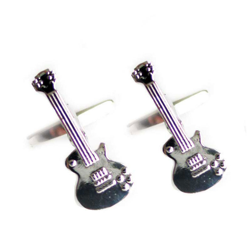 Retro Electric Guitar Cuff Links