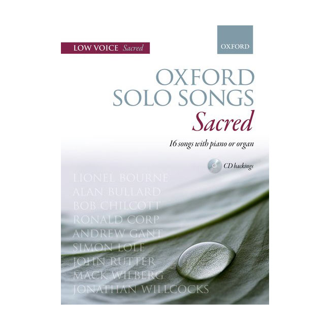 Oxford Solo Songs Sacred Low Voice