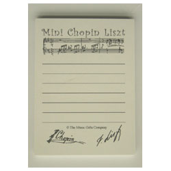 'Chopin Liszt' Shopping List Mini Notepad